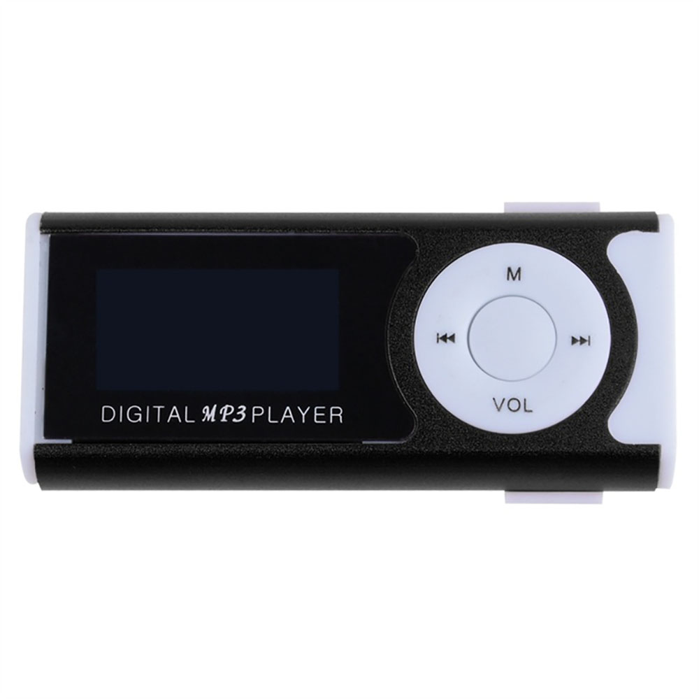 Mini Clip LCD Screen MP3 Music Player MP3 Player With Flashlight Support TF Card Earphone