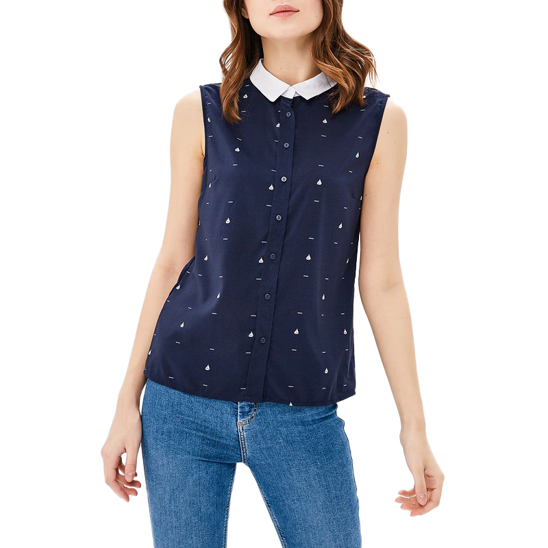 Blouses & Shirts MODIS M181W00492 woman blouse shirt blusas for female TmallFS plus collar knot blouses