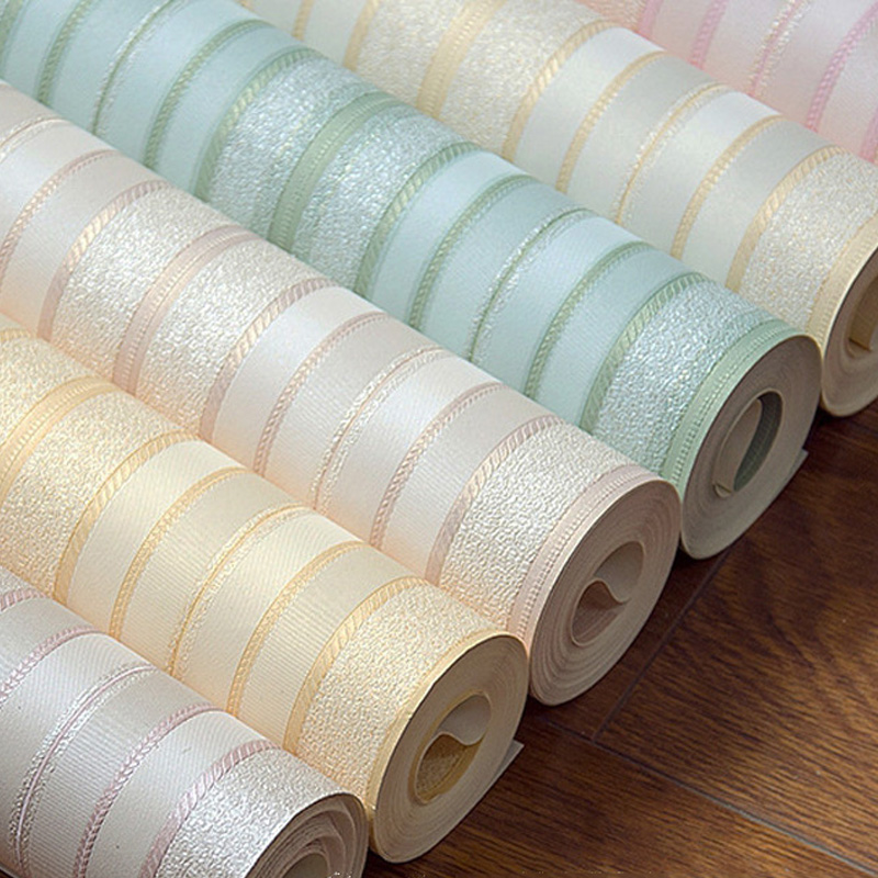 Vertical Stripe Wallpapers for Living Room Waterproof Washable PVC Wallpaper Roll 6 Color papel contact papel