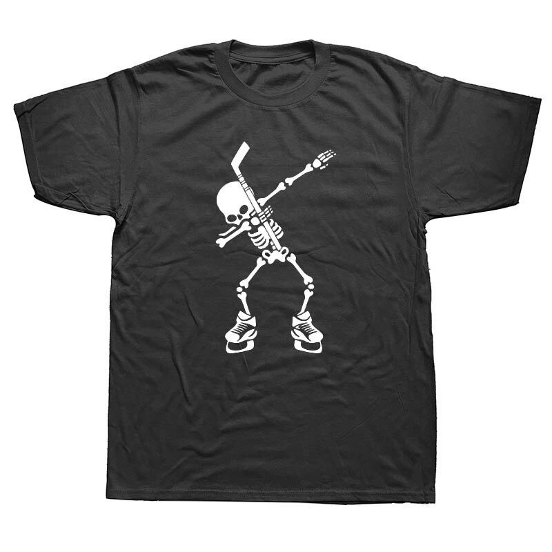 Hockeyer Skeleton Dabbing Halloween Dab Dance   T  -  Shirt   New   T  -  Shirt   Men Fashion   T     Shirts   Top Tee Fashion Cotton Plus Size
