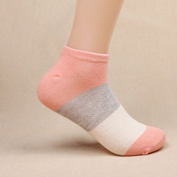 400Pair Summer  women  Stripe Cotton  Slippers Short socks Harajuku Funny Socks meias Gift