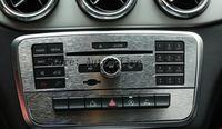 크롬 CD 콘솔 패널 트림 자동차 스티커 메르세데스 벤츠 CLA 200 220 2014 2015 액세서리