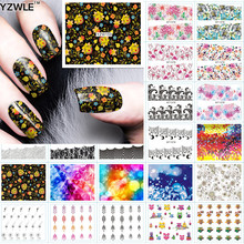 YZWLE 1 Sheet DIY Designer Water Transfer Nails Art Sticker / Nail Water Decals / Nail Sticker Accessories, 42 Styles For Choose
