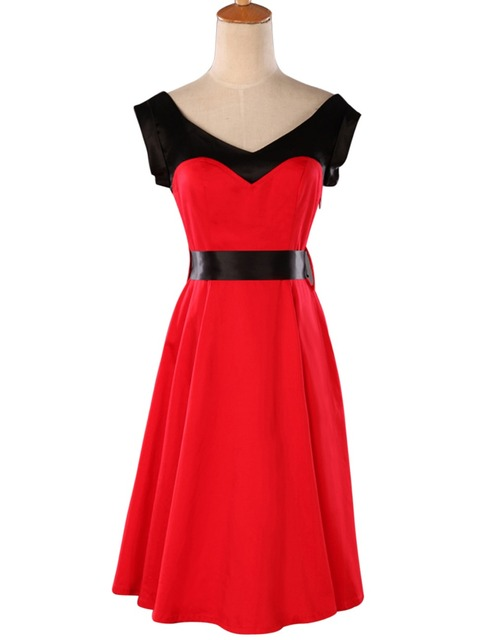 2017 Plus Size women clothing Work wear Female vestidos robe Vintage 50s retro Swing Woman Summer style Casual Party Dresses