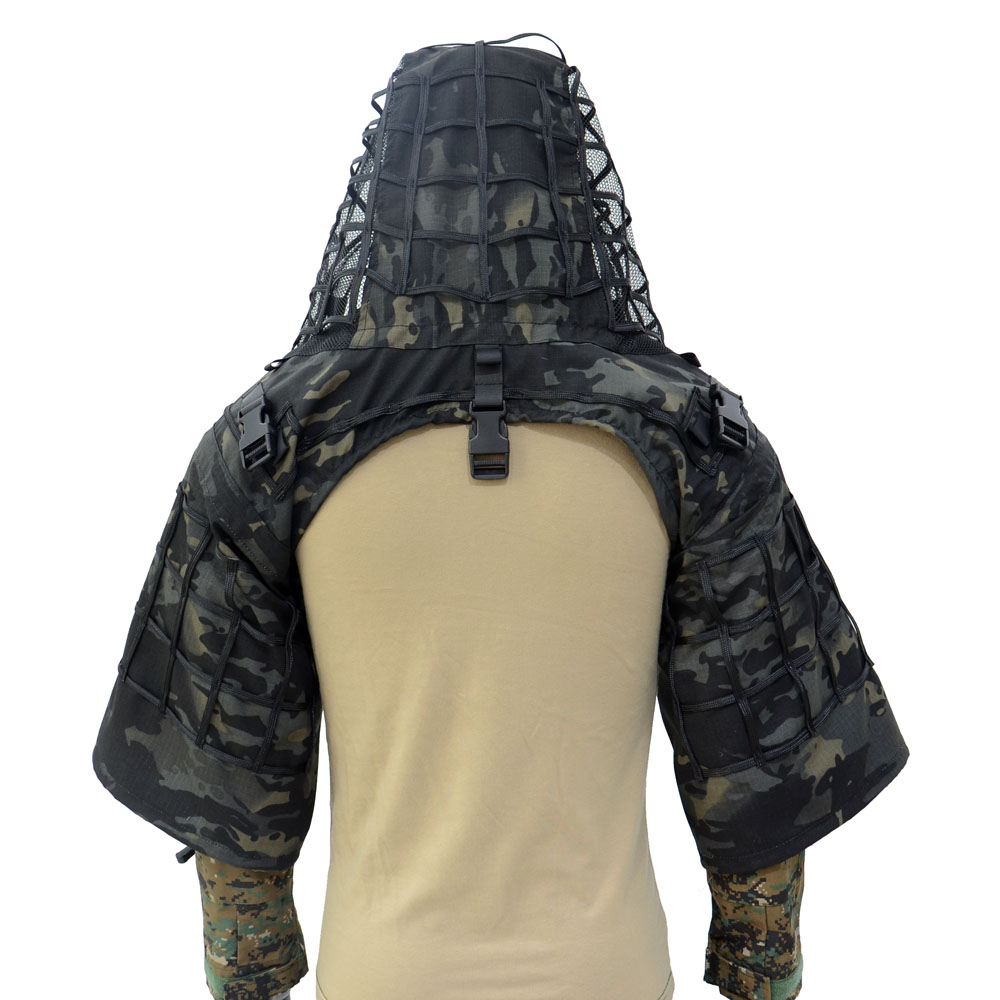 TTGTACTICAL Sniper Ghillie capuche Camouflage Ghillie costume Base tactique Sniper manteau Viper hottes, chasse Ghillie Base - 3