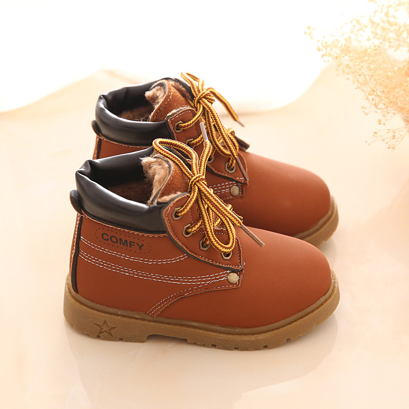 Mother & Kids ... Baby Shoes ... 32512053186 ... 4 ... New Fashion Winter Baby Boots Boys And Girls Calzado Botas Ninas 2015 Infant Girl Winter Leather Boots Baby Warm Snow Boots ...