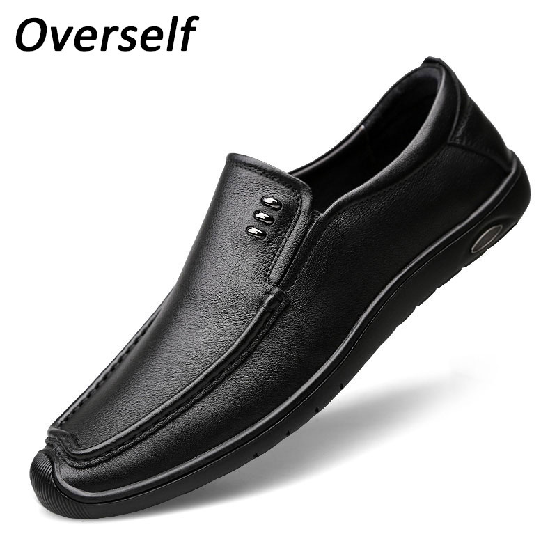 цена на New Arrival Genuine Leather Loafers Men Casual Shoes Fashion High Quality Driving Moccasins Slip On Men Flat Shoes Plus Big Size