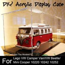 Acrylic Display Case for Lego for VW for Camper Van 10220 for Mini Cooper 10242 Blocks ( Model Not Included ) Display Case(China)