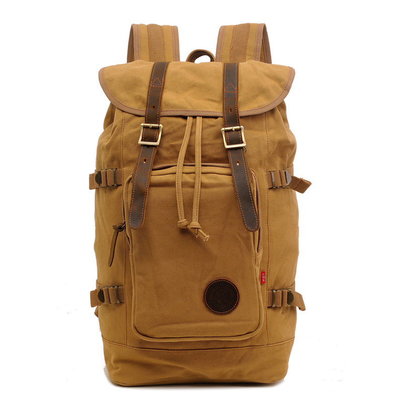Vintage Canvas Backpack Fashion Canvas Rucksack Daypack Leisure College Bag Travel School Bags Unisex Computer Bag Khaki игрушка конструктор город мастеров горка землянички bb 1506 r