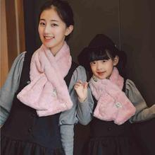 2016 new cute baby scarf lovely animal print scarf kids cotton scarf winter children rabbit hair parent-child paragraph scarf