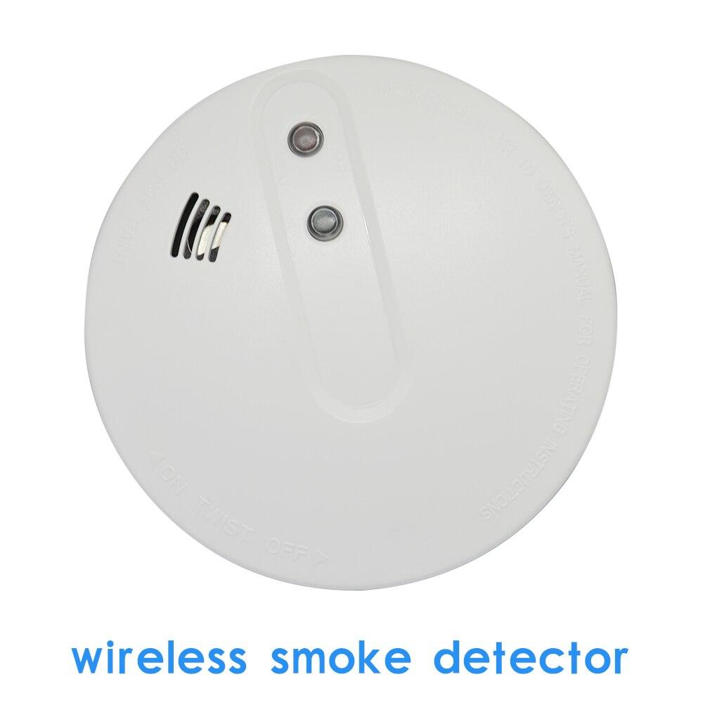 (1 PCS) GSM Alarm System Accessories Wireless Smoke Sensor Home Security Alarm Fire Control Detector 433MHz NO Battery