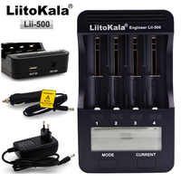 Liitokala Lii500 LCD cargador de batería de carga de 18650, 3,7 V, 18350, 18500, 16340, 25500, 10440, 14500, 26650, 1,2 V AA AAA batería NiMH