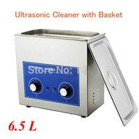 180 W 6.5L Ultrasonik Temizleyici Temizleme Sepeti ile Izle/Cam/CD Ultrasonik Temizleme Makinesi İngilizce Manuel PS-30