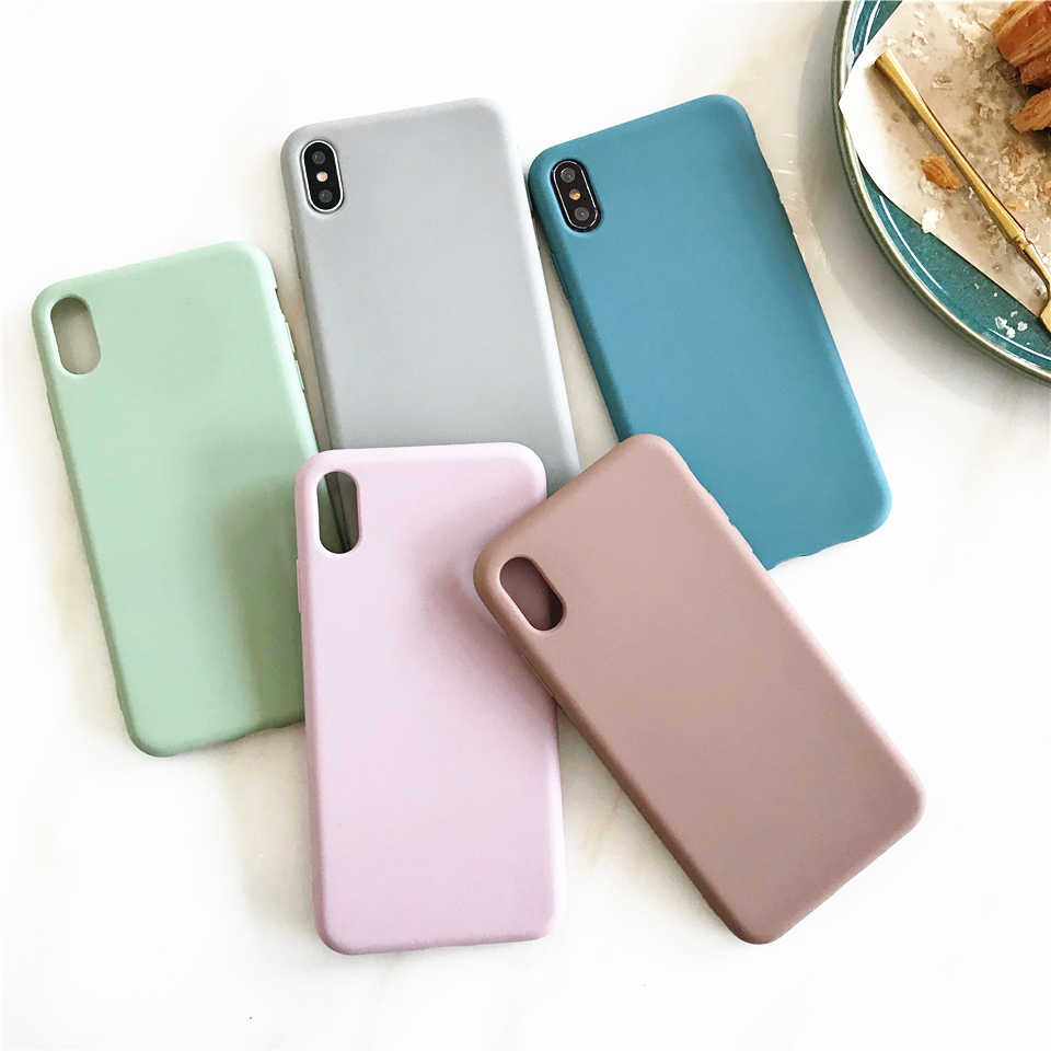 Original Soft Silicone Phone Case For iPhone 6 6s 7 8 Plus X XS max XR Cover For Huawei P30 Pro P20 Mate 20 10 Honor 10 Nova 4 3