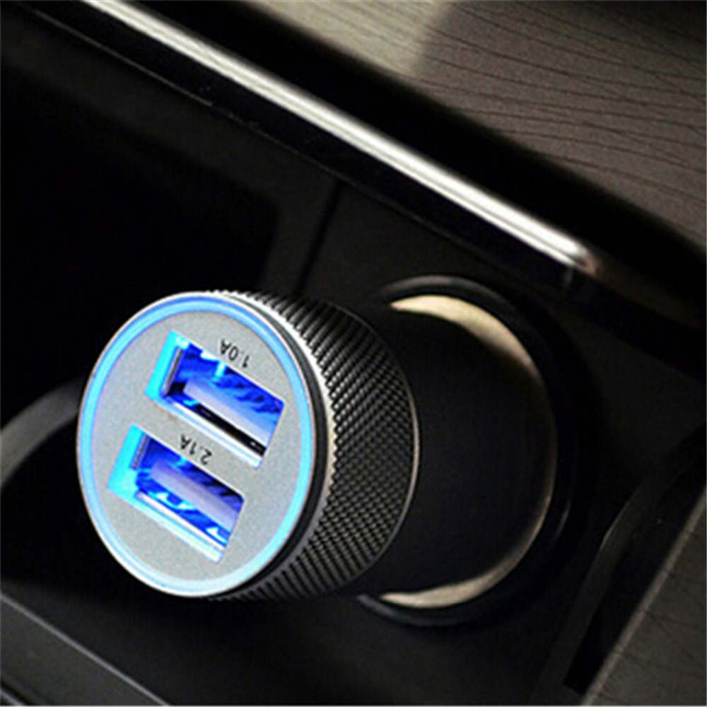 Fast Dual Usb Car Charger Car Cigarette Lighter Socket Universal USB Adapter Auto Car-Charger For Iphone6 7 Sumsung Xiaomi(China)