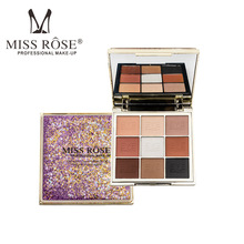 MISS ROSE quicksand 9 color eyeshadows girls nude matte net red Jin Cong eye shadow plate