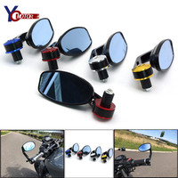 For SUZUKI HAYABUSA/GSXR1300 DUCATI CaRbon MONSTER 1200 Universal Motorcycle handleBar Ends rearview Mirrors Rear View Mirror
