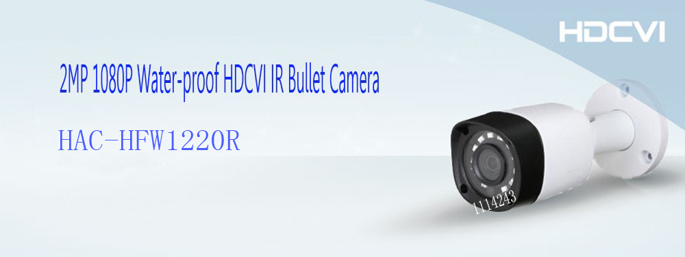 Free Shipping DAHUA CCTV Outdoor Camera 2MP 1080P IR Waterproof HDCVI Bullet Camera Without Logo HAC-HFW1220R