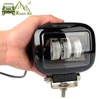 6D lentille 5 pouces rond carré Led lumière de travail 12V pour voiture 4WD ATV SUV UTV camions 4x4 Offroad moto Auto travail conduite lumières