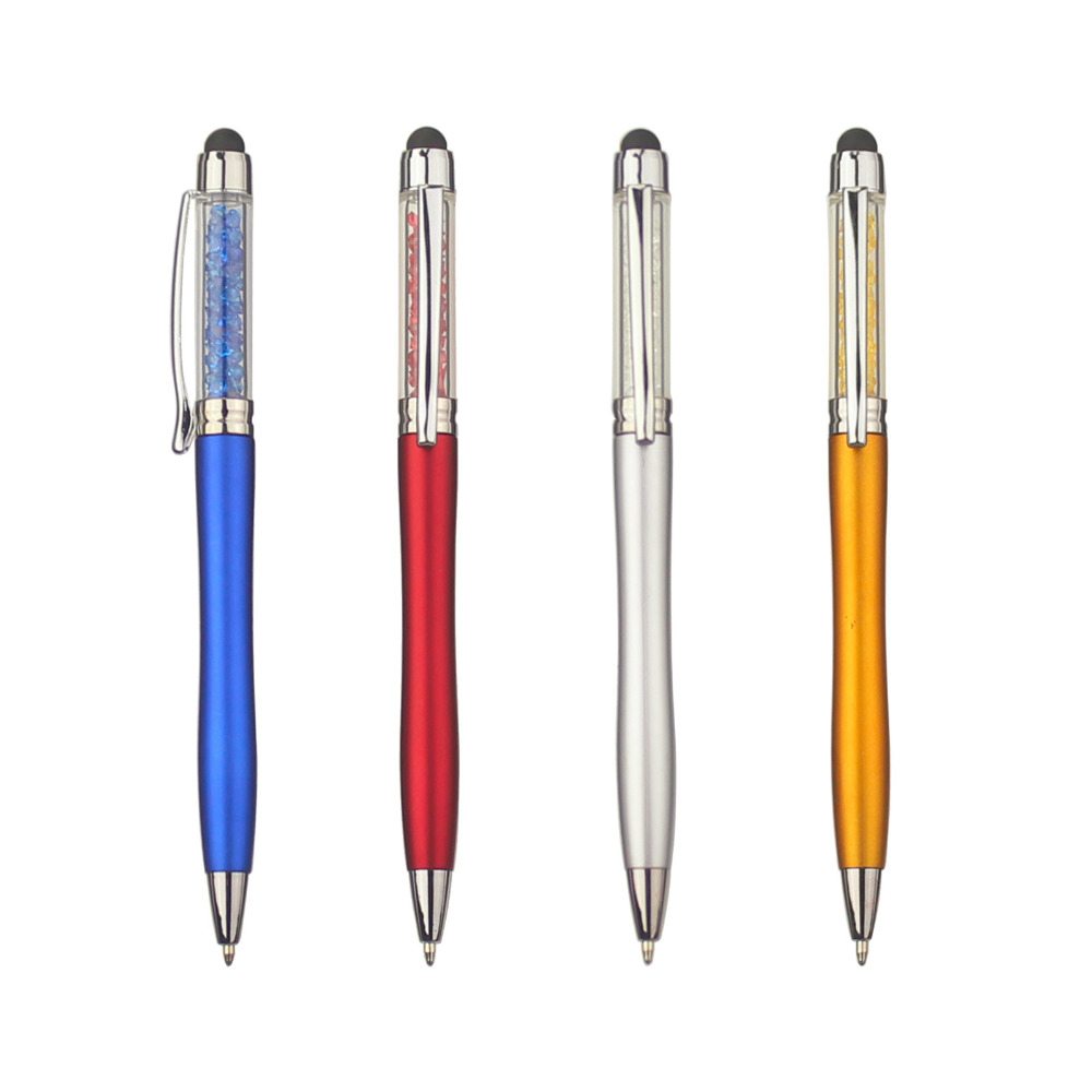 Image 3 - lot 50pcs Color Crystal Stylus Ball Pen,Diamond Deco Touch Screen Pen for Phone&Pad,Customized Promotional Logo Gift,-in Banner Pens from Office & School Supplies