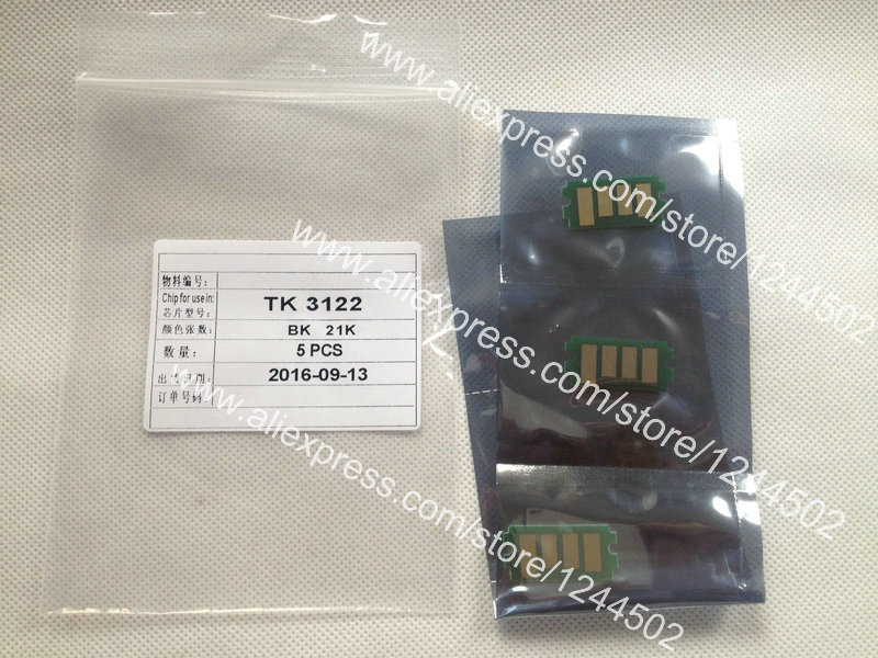 Compatible new toner cartridge reset chip for Kyocera TK3122 FS4200 10 pcs per lot