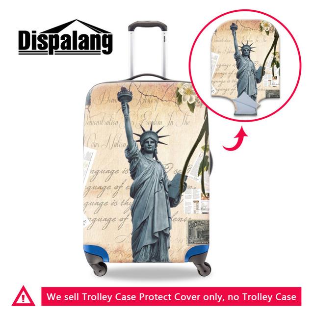 Estátua da Liberdade Imprimir Viagem Trolley Caso Bagagem Capa Protetora Para 18-30 Polegada Elastic Estiramento Tampa Da Mala À Prova D' Água