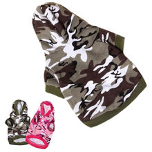 XS/S/M/L New Dog Clothing Pet Sweatshirt Camo Camouflage Coats Hoodies Costume #01(China)
