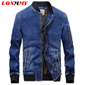 LONMMY M-4XL Military style jeans jacket men Cotton Overcoat Army Casual Denim jacket men coat Brand-clothing 2016 Mens coats