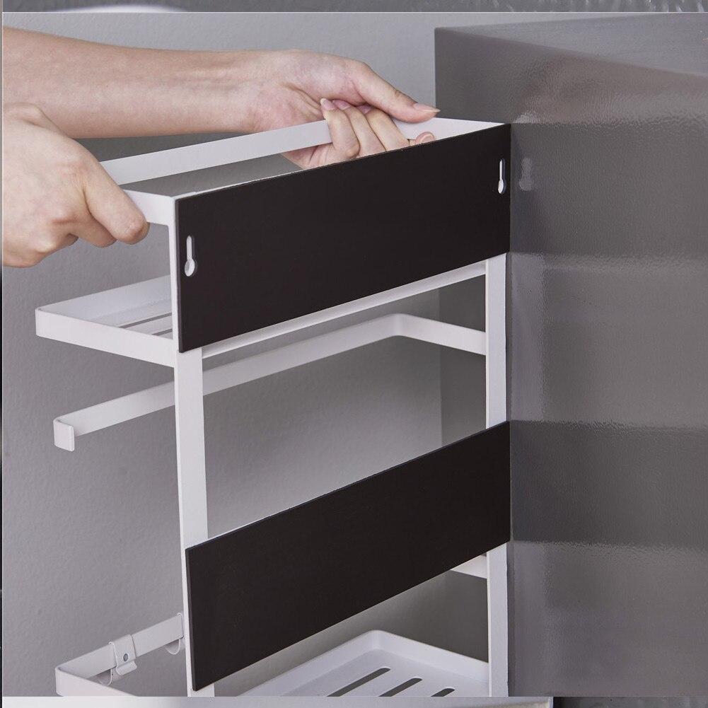 Multifunctional Magnetic Refrigerator Side Hanger Rack Spice Holder Storage Kitchen Tool XH8Z