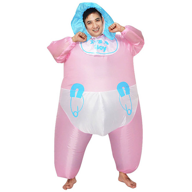 Inflatable Baby Costume It S A Boy Hen Night Party Fancy Dress Pink Up