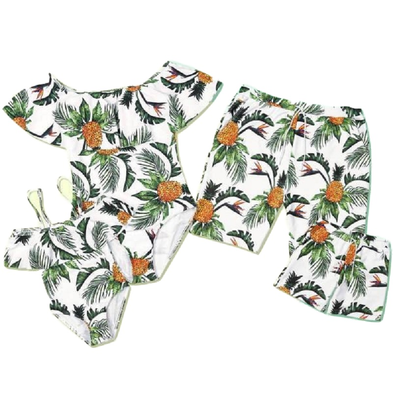 2020 mujer Women Mens kids Family Couple Swimsuit one piece Bikini Men   Board     Shorts   Swimming Trunks Beach Boardshort swimwear