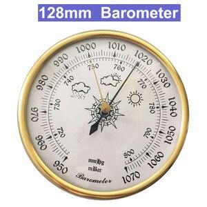 Image 1 - 128 мм 950 ~ 1070 hpa настенный бытовой термометр, гигрометр, тестер погоды воздуха, прибор, барометры