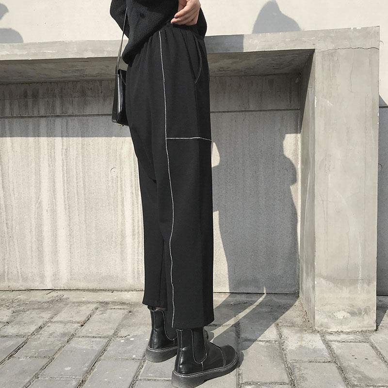 Pantalones Bolsillo De longitud Las Mujeres xitao Black Nuevo Moda 2019 Lyh2555 Tobillo Sólido Primavera La Harem Color Verano Mujer Pw6qEq