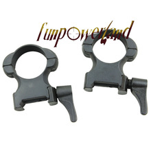 Funpowerland Weaver 1 Inch High Matte Lever Lok Top Mount Rings Rings
