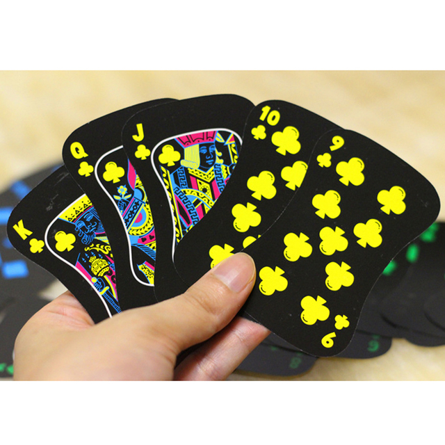 Black Glow In The Dark Poker Fluorescen Poker Cards Night Luminous Playing Cards Collection Special Poker Climbing Accessories