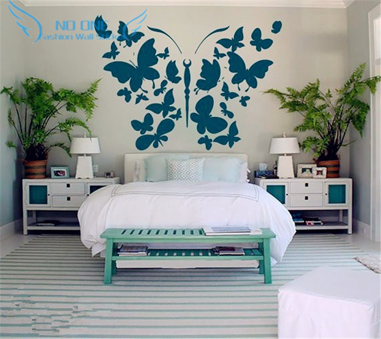 Wall Stickers Butterfly Decal Vinyl Wall Stickers Home Decor Bedroom Dorm Living Room Interior Design Kitchen Art Murals interior design