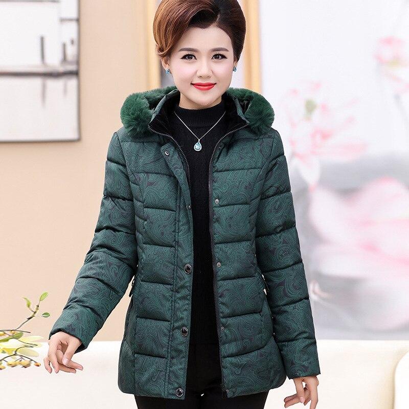 Vestes d'hiver femmes 2018 hiver d'âge moyen femmes de moyen et long femmes d'âge moyen coton veste coton manteau