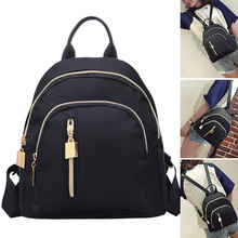 2020 Fashion Women Travel Black Backpack Oxford Cloth Zipper Shoulder Bag Casual Simple Mini Backpacks HD88 free shipping real photo 2017 mini pu mini backpack cheap women backpacks black bb108