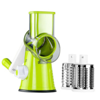 Vegetable Potato Salad Manual Roller Round Slicer Cutter Grater Kitchen Tool