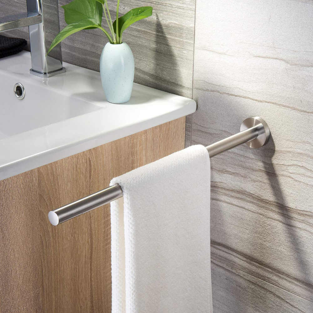 ZUNTO Towel Holder 40cm 304 Stainless Steel Kitchen Bathroom Towel Holder For Towels Bar Rail Hanger 2019 New Towel Rack