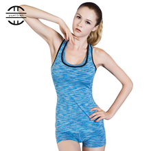 Women Gym T-Shirt Tights Camo Stretch Tank Top Color Block Racerback Fitness Vest Seamless Sport Camisole Yoga Shirts