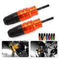 For Kawasaki Z1000 Z1000sx 2013-2015 Orange Motorcycle Accessories Crash Pads Exhaust Sliders Crash Protector