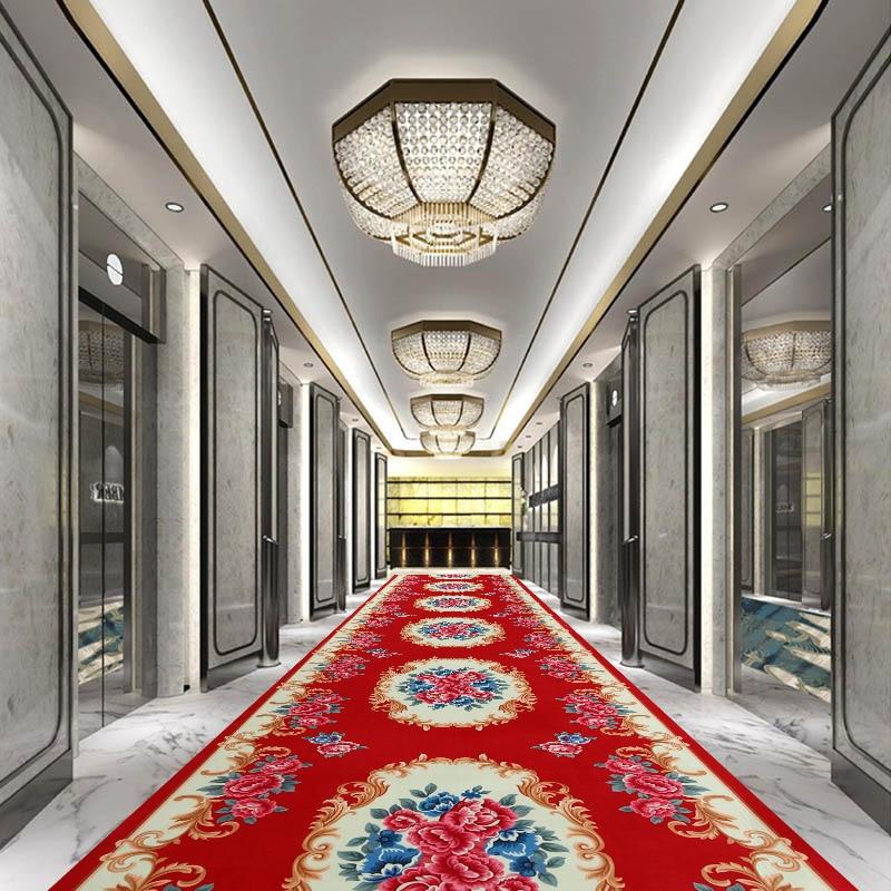 Long Size Runner Hallway Entrance Carpet For Stairway