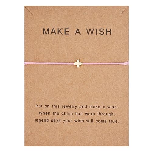Регулируемый браслет с бумажными карточками в форме бабочки, звезды, короны, Круглый тканый браслет ручной работы, Простые Модные женские ювелирные изделия, подарки - Окраска металла: 13