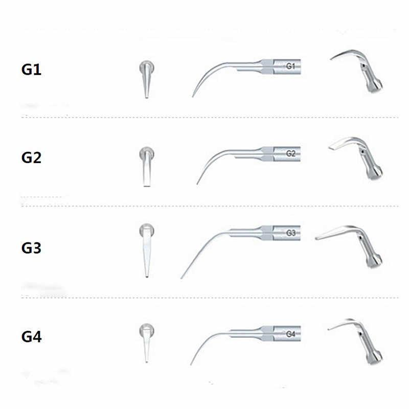 5Pcs G1,G2,G3,G4,P1,p3 P4 ทันตกรรมScalerเคล็ดลับFit EMS Woodpecker Ultrasonic Scaler HandpieceทันตกรรมUltrasonic Scaler Scaling Tip