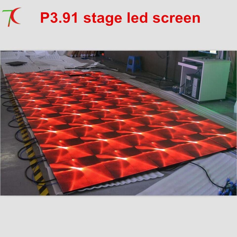 Produttore di vendita P3.91 full color 500*500mm led schermo palco per la danzaProduttore di vendita P3.91 full color 500*500mm led schermo palco per la danza