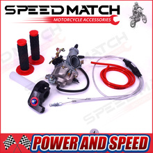 High Performance KEIHIN PZ30 30mm Carburetor Power Jet Accelerating Pump + Visiable Throttle Twister + Dual Cable IRBIS + GRIPS