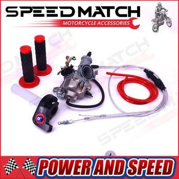 High Performance KEIHIN PZ30 30mm Carburetor Power Jet Accelerating Pump + Visiable Throttle Twister + Dual Cable IRBIS + GRIPS