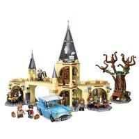 Harri Potter Movie Hogwarts Whomping Willow набор совместим с Legoing Movie 75953 строительные блоки кирпичи детские игрушки Рождество