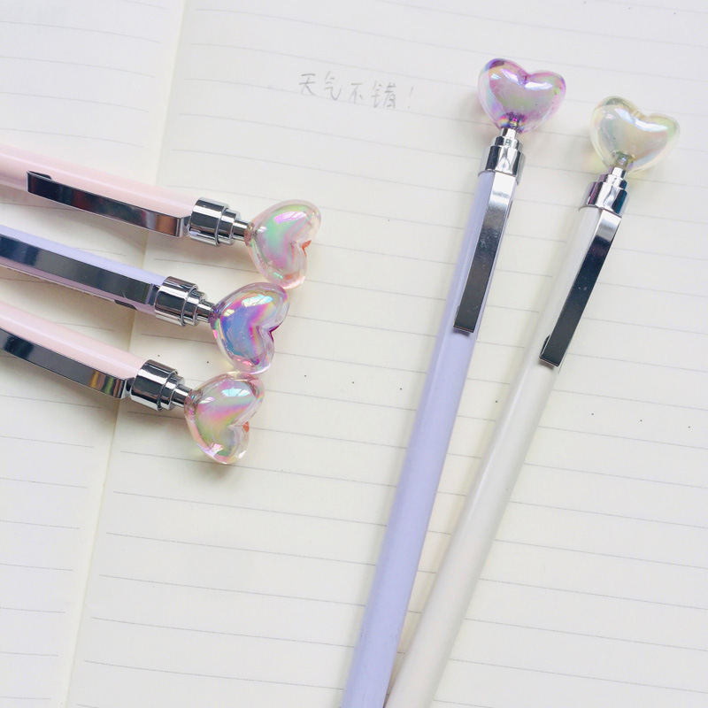 0 5mm Love Diamond Head Mechanical Pencil Student Pencil Automatic Pen For Kid School Office Supply in Mechanical Pencils from Office School Supplies